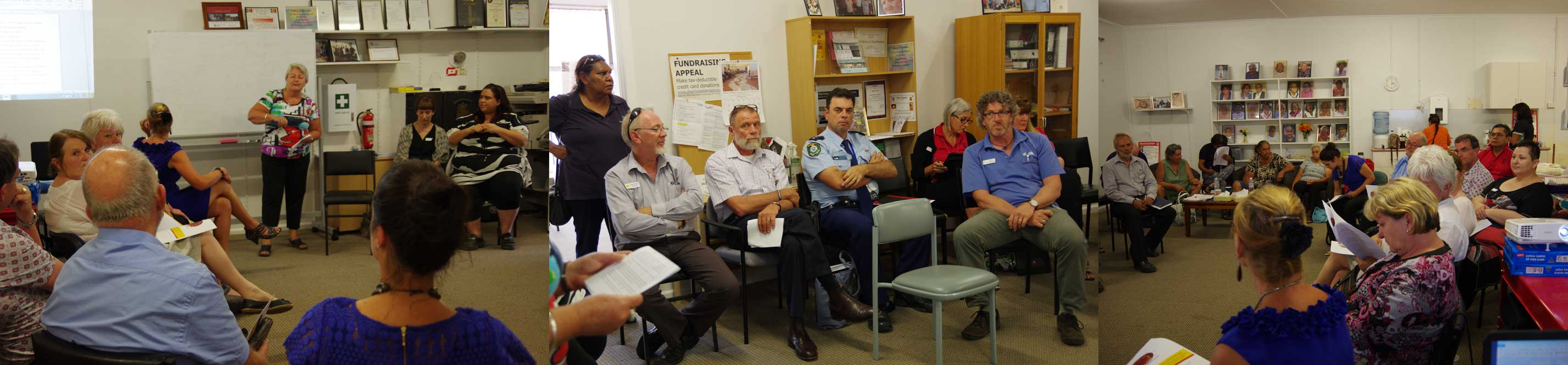 The meeting with service providers to discuss new health services needed for Walgett 11/11/15