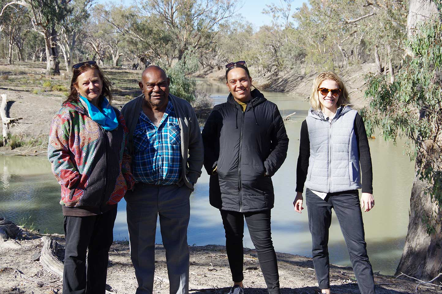 The CHIPP team with DEG's Clem Dodd and Yuwaya Ngarra-li's Peta MacGillivray at the Junction