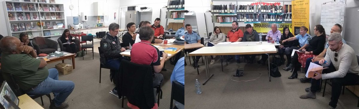 the first Walgett Youth Justice Working Group meets