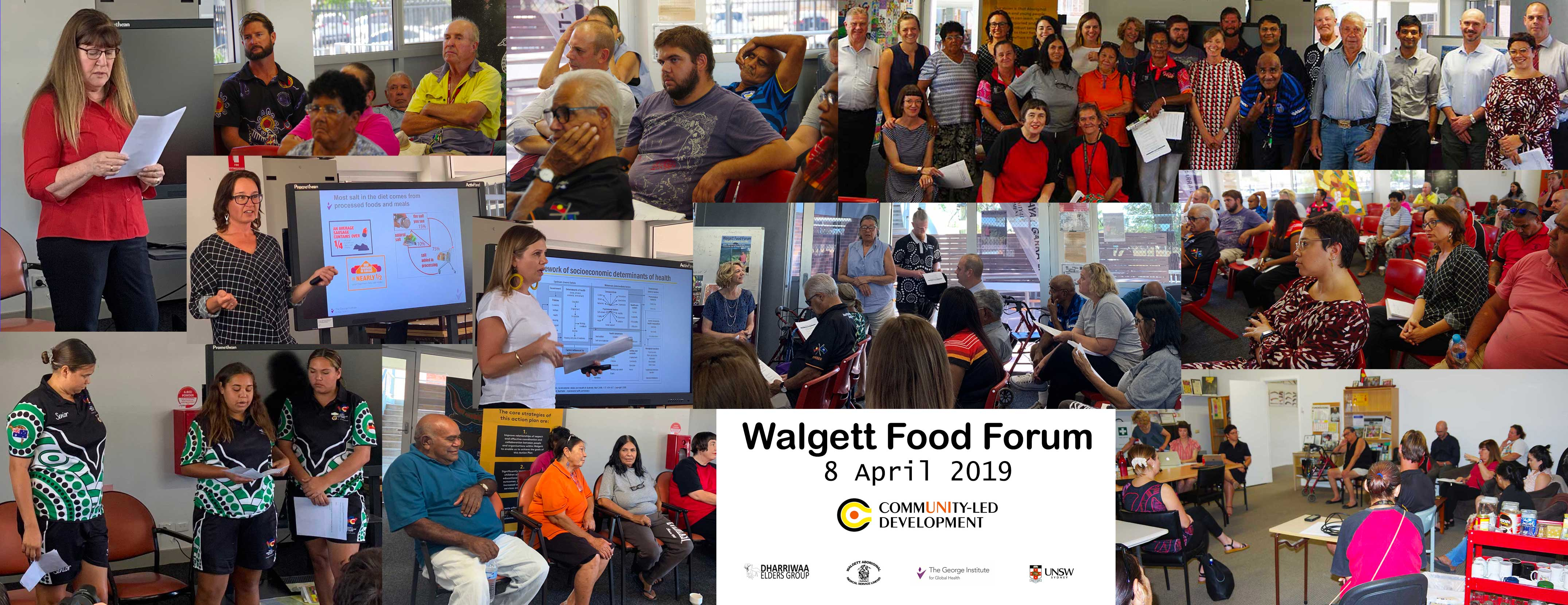 composite of scenes from the Walgett Food Forum 8 April 2019