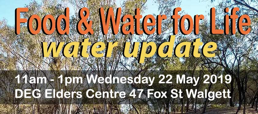 Walgett water update - image from flier