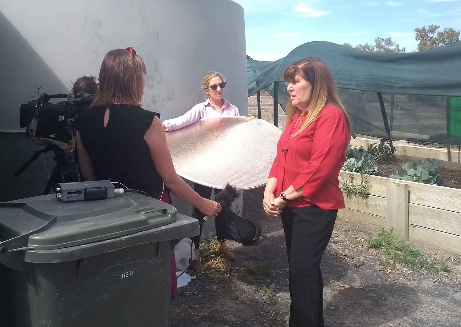Walgett Aboriginial Medical Service CEO Christine Corby OAM speaks to ABC's Rachel Carbonell about her concerns about the impacts of high salt levels on Walgett's chronic disease burden, and the community garden.