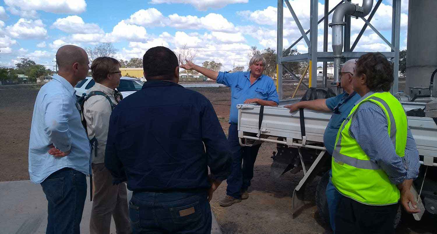 Walgett's Mayor, Deputy Mayor & Council workers introduce Walgett water infrastructure