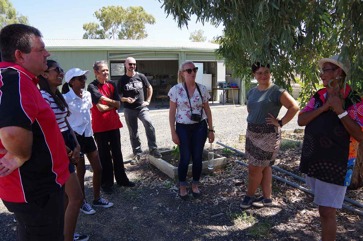 Impact Engineers at Walgett AMS's Community Garden February 2019.